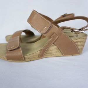 3b351f22cfae Clarks Shoes - Clarks Alto Disco Strappy Wedge Sandals Beige 3238